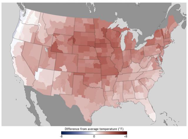 2012 anno caldissimo negli USA: il clima cambia rapidamente, non altrettanto la società