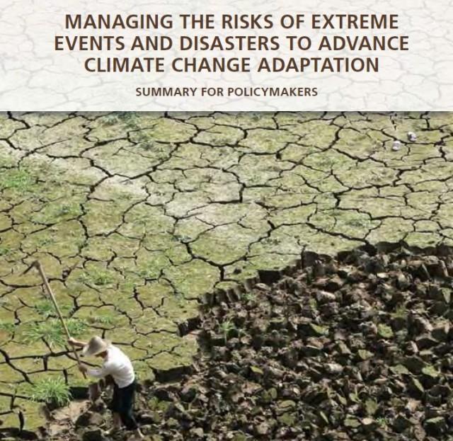 Report Ipcc: gestione degli eventi estremi ed adattamento al cambiamento climatico