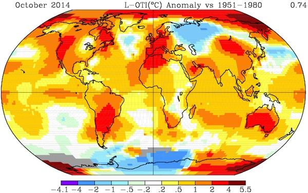 Riscaldamento climatico: alla COP 20 di Lima report WMO che prospetta nuovo record di temperature