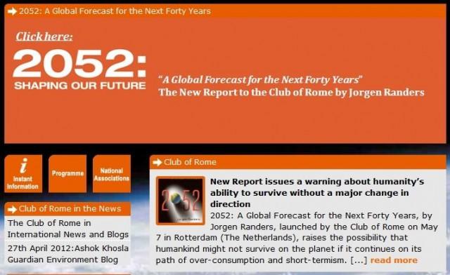 Club di Roma e riscaldamento climatico: + 2°C entro il 2052 e + 2,8°C entro il 2080
