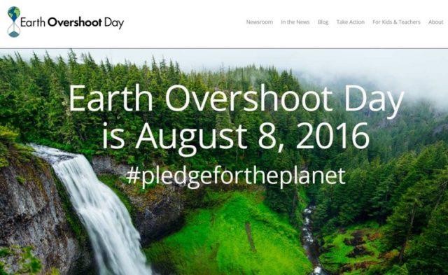 (8 agosto 2016) Overshoot day 2016: da oggi la Terra è in sovrasfruttamento