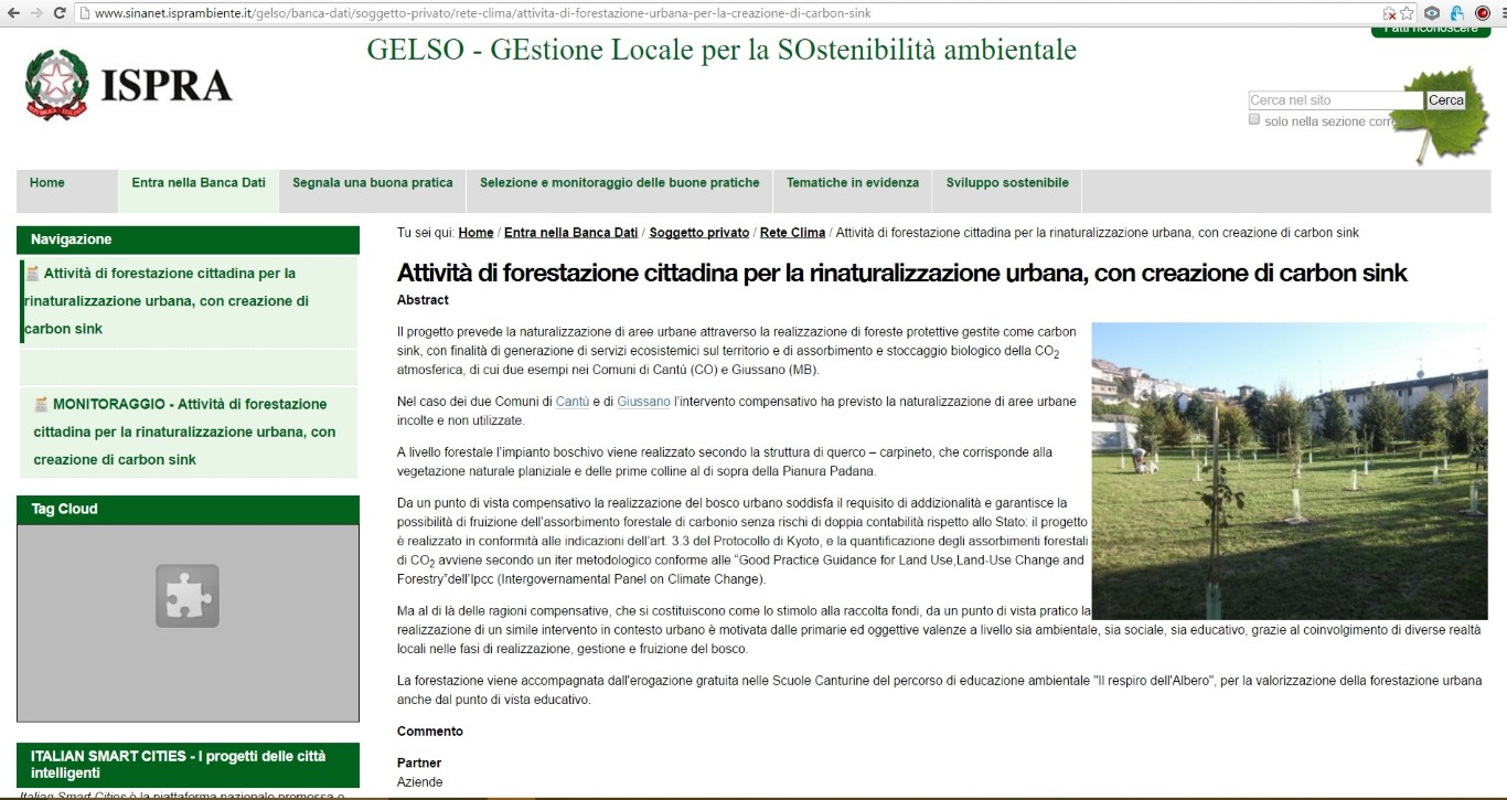 pagina web GELSO - Rete Clima_small