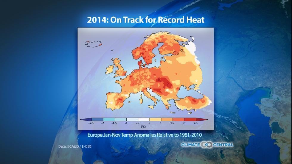 temperature in europe 2014