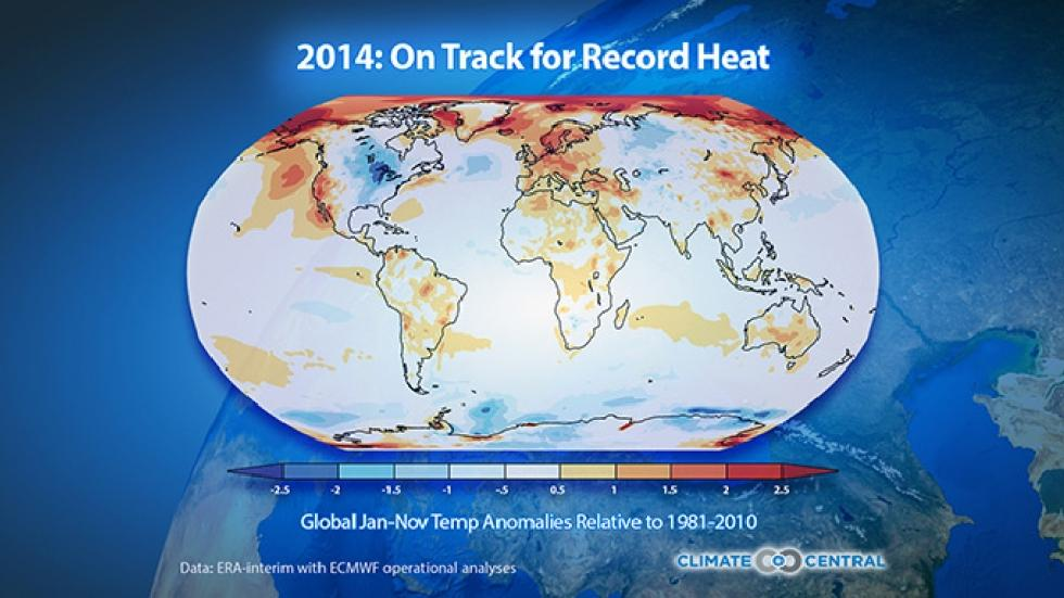 temperature in the world 2014