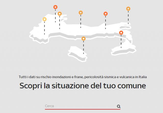 Il tuo Comune è a rischio idrogeologico, sismico o franoso? Scoprilo con questa mappa digitale online.